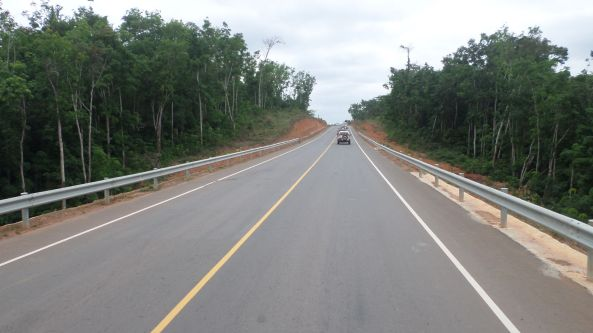 A segment of the completed road that is now making movement easier and faster than two years back